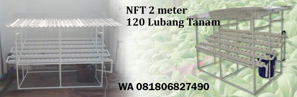 Pengiriman Hidroponik NFT 120 Lubang Tanam ke KebunJeruk