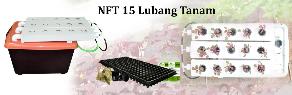 Hidroponik NFT 15 lubangtanam