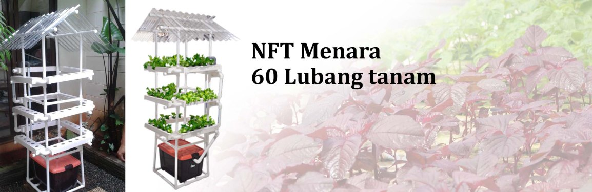 Pengiriman Hidroponik NFT Menara 60 Lubang Tanam keSerpong