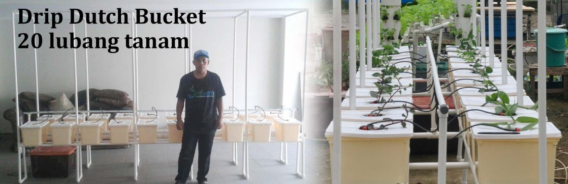 Pengiriman Hidroponik Drip Dutch Bucket 20 pot ke PulomasJakarta