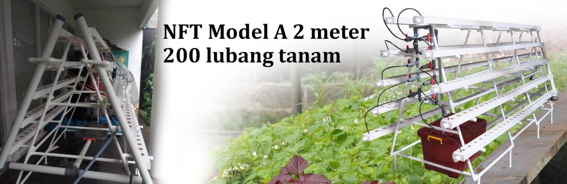 Pengiriman Hidroponik NFT model A 2 meter 200 Lubang Tanam keJakarta